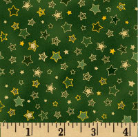 Noel Small Stars Metallic Green/Multi