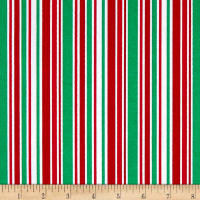 Noel Holiday Stripe White/Multi