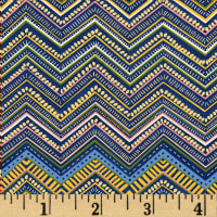 Boho Chic Chevron Stripe Navy/Multi