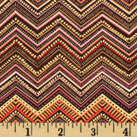 Boho Chic Chevron Stripe Chocolate/Multi