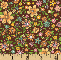 Boho Chic Small Floral Chocolate/Multi