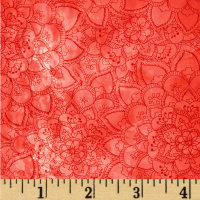 Boho Chic Marbled Floral Coral