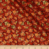 Sentimental Small Leaves Metallic Russet/Multi