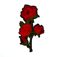"Sharita Iron-on Embroidered Roses Applique 9"" x 5"""