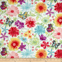 Contempo Meadow Dance Wildflowers White/Multi