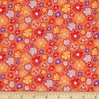 Contempo Meadow Dance Little Flowers Orange