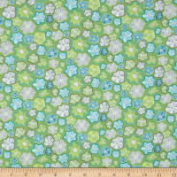 Contempo Meadow Dance Little Flowers Green