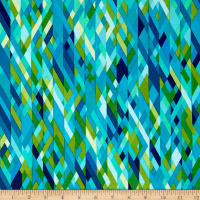 Kanvas Sunburst Color Collage Green