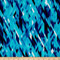 Kanvas Sunburst Color Collage Blue