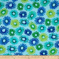 Kanvas Sunburst Daisy Burst Light Blue