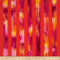 Kanvas Sunburst Watercolor Stripe Orange