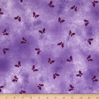 Kanvas Pansy Noir Butterfly Wash Lilac Metallic