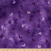 Kanvas Pansy Noir Butterfly Wash Purple Metallic