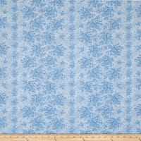 "Homestead 110"" Wideback Climbing Rose Sky Blue"