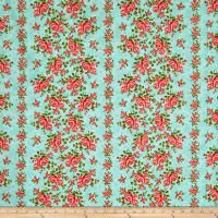 "Homestead 110"" Wideback Climbing Rose Teal"