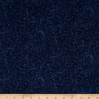 Hydrangea Blue Garden Scroll Dark Blue