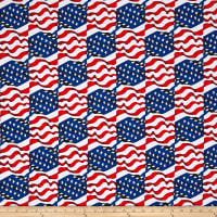 Kanvas Simply American Star Spangled Wave White