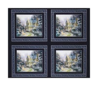 "Thomas Kinkade Studio The Night Before Christmas 36"" Panel Multi"