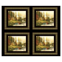 "Thomas Kinkade Studio A Peaceful Retreat 18"" Panel Multi"