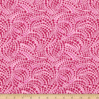 Benartex Cat-I-tude Beaded Swirls Tonal Pink