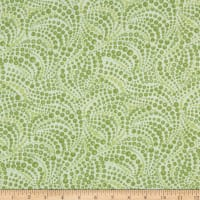 Benartex Cat-I-tude Beaded Swirls Tonal Lt.Green