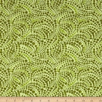 Cat-I-tude Beaded Swirls Tonal Green