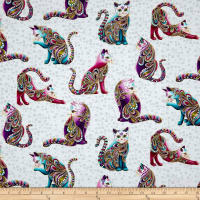 Cat-I-tude Artist-O-Cats Metallic White/Multi