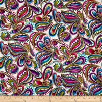 Cat-I-tude Paisley Style Metallic White/Multi