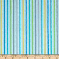 Jungle Jamboree Wavy Stripe Blue