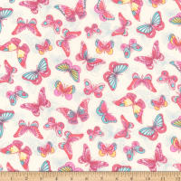 Kaufman London Calling Lawn Spring Butterflies