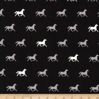 Kaufman London Calling Lawn Black Horses
