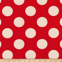 Kaufman Sevenberry Canvas Prints Red Dots