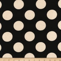 Kaufman Sevenberry Canvas Prints Black Dots