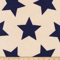 Kaufman Sevenberry Canvas Prints Navy Stars