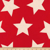 Kaufman Sevenberry Canvas Prints Scarlet Stars