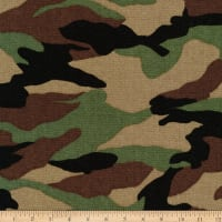 Kaufman Sevenberry Canvas Prints Camouflage Camouflage