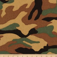 Kaufman Sevenberry Canvas Prints Olive Camouflage