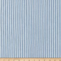 Kaufman Sevenberry Micro Classics Blue Stripes