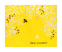 "Beeyoutiful Bee Happy 36"" Panel Sunshine"