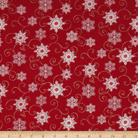 A Festive Season 2 Snow Fall Swirl Red Metallic