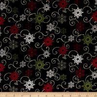 A Festive Season 2 Snow Fall Swirl Black Metallic