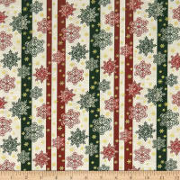 A Festive Season 2 Snowflake Stripe Green/Cream