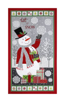 "Contempo Let It Snow Let It Snow 24"" Panel Multi"