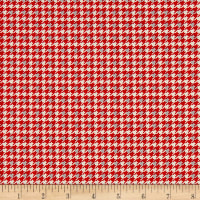 Let It Snow Houndstooth Red
