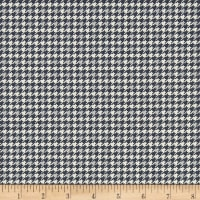 Let It Snow Houndstooth Dark Grey