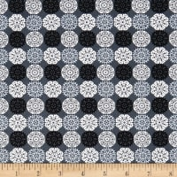 Contempo Let It Snow Paper Cut Flakes Dark Grey