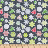 Let It Snow Cookies Dark Grey/Multi