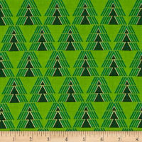 Kanvas Merry & Bright O' Christmas Tree Metallic Green