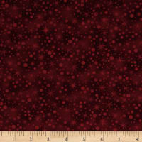 Winter Wonderland Snowball Texture Claret