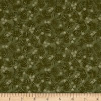 Winter Wonderland Pine Cones Tonal Green